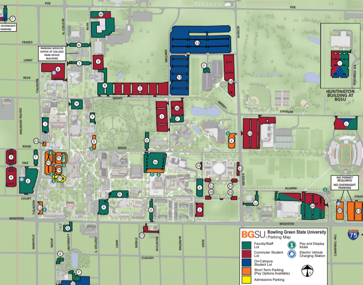 bowling green state university campus map Arriving In Bowling Green 21st Century English Conference bowling green state university campus map